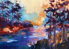 The Collection : Island - Abstract Landscapes by Teresa Smith - Artist Seascape Paintings, Nature Paintings, Landscape Paintings, Landscapes, Friday Harbor Wa, Forest Painting, Oil Painters, Waterworks, Local Artists