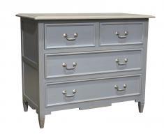 Block & Chisel grey weathered oak 4 drawer chest
