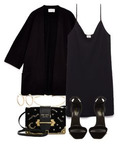 """Untitled #5140"" by theeuropeancloset ❤ liked on Polyvore featuring Yves Saint Laurent, Prada and Kenneth Jay Lane"