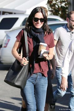 Pin for Later: Can't-Miss Celebrity Pics! Courteney Cox made a Tuesday coffee run in LA.