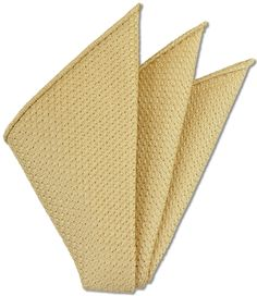 Corn Yellow Prometeo Grenadine Silk Pocket Square # 16