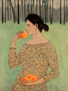 """Brian Kershisnik, """"Peaches""""."""