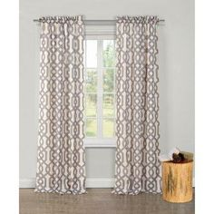 Duck River Textiles Ashmont Printed Textured Rod Pocket Curtain Panel Pair.
