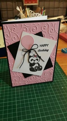 Best Ideas Diy Kids Birthday Cards Girls Stampin Up Girl Birthday Cards, Baby Girl Cards, Handmade Birthday Cards, Diy Birthday, Birthday Nails, Birthday Gifts, Happy Birthday, Stampin Up Anleitung, Karten Diy