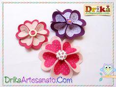 Flor de feltro e tecido 6