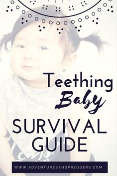 Teething baby survival guide! Learn how to naturally remedy a fussy teething baby. Click to read more!