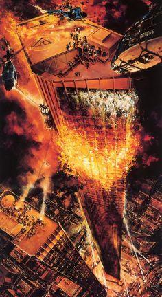 The Towering Inferno Poster Art by John Berkey Best Movie Posters, Movie Poster Art, Raise The Titanic, John Berkey, The Towering Inferno, 70s Sci Fi Art, Science Fiction Art, Thats The Way, King Kong