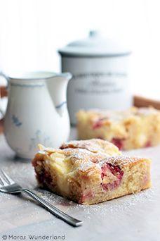 Erdbeer-Puddingkuchen vom Blech