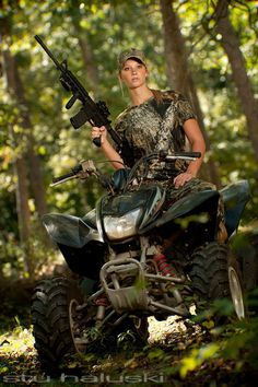 Stu Haluski photography  Avalon Compound  guns, 4wheeler, woods
