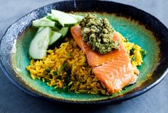 Salmon with Asian Pesto