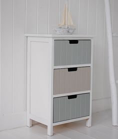 Maine narrow tall freestanding bathroom cabinet with 6 drawers for storage bathroom vanity for Tall bathroom cupboards freestanding