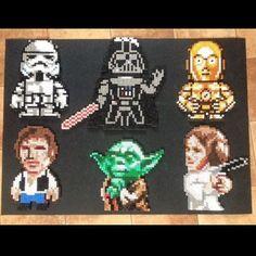 Star Wars characters hama perler beads by Sannas Pärlor