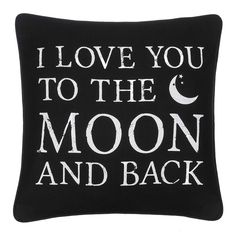moon love pillow moon witchy goth occult nu goth fachin pillow home decor bedroom modcloth Goth Home Decor, Romantic Home Decor, Romantic Homes, Home Decor Bedroom, Bedroom Ideas, Baby Bedroom, Home Decor Accessories, Decorative Accessories, Gothic Bedroom