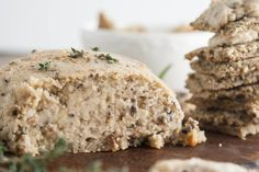 Mushroom-thyme vegan nut cheese bursts with layers of umami flavor.  From: thehumbleplate.com