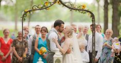 The ever loved kiss shot! #wedding #summer