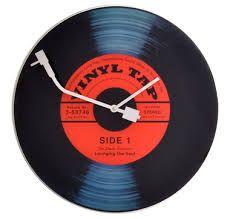 A retro album clock perfect for a rec room!