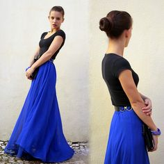Basic, Mom's Belt, Second Hand Indian Maxi Skirt