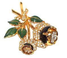 Coro Trembler Pin  www.midcenturyjewelry.com