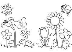 Imagenes infantiles de primavera para imprimir y colorear ...