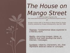 an analysis of symbols in the house on mango street by sandra cisneros The house on mango street by sandra cisneros home / literature / the house on mango street / analysis / symbolism they're supposed to be symbols that are.