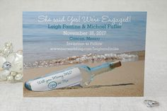 A Message in a Bottle - Save the Date Postcard by MagnetStreet