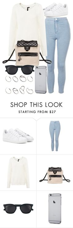 """Style #11440"" by vany-alvarado ❤ liked on Polyvore featuring adidas, Topshop, Chanel, Yves Saint Laurent and ASOS"
