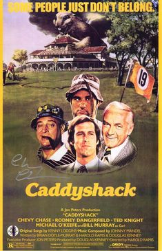 Chevy Chase Signed Caddyshack 11x17 Movie Poster (In Silver)