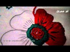 طرز الرباطي الدرس الاول كيفية اخد الرشمة وتطبيقها جزء اول مع ام عمران Arab Embroidery - YouTube