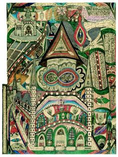 """Adolf Wolfli. Outsider artist. """"Bread Art: Single-Sheet Drawing (1916-1930)."""" This group includes drawings he did for others in exchange for plain or colored-pencils, paper tobacco, and so on…""""    Read more: http://www.katyelliott.com/blog/2008/02/adolf-wolfli.html#ixzz240B6pPGX"""