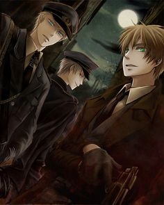 Dark Hetalia - England, Germany, Prussia- this is hotter than it should be