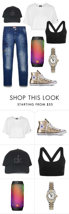 """Untitled #2713"" by moria801 ❤ liked on Polyvore featuring Topshop, Converse, Ivy Park, JBL and Rolex"