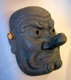 Tengu Mask from Akita Province 1860