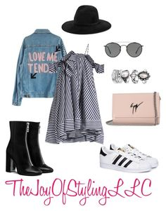 """""""Looking For the Sun"""" by thejoyofstyling on Polyvore featuring MSGM, Ray-Ban, rag & bone, adidas and Giuseppe Zanotti"""