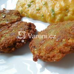 Pikantní košér cizrnové placičky recept - Vareni.cz Jewish Recipes, Tandoori Chicken, Baked Potato, Food And Drink, Pork, Veggies, Potatoes, Vegetarian, Meat