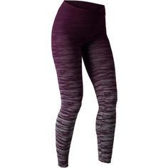 a45838a6710b4 Leggings FIT+ 500 slim Gimnasia Stretching mujer violeta gris AOP