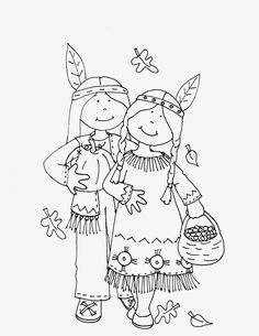 Free Dearie Dolls Digi Stamps: Thanksgiving Indians