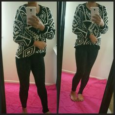 """Aztec Print Pullover Sweater Super Comfy and will keep you warm.  One size fits S-M  Measurements laid flat  armpit- armpit 21"""" Shoulder-shoulder 24"""" Length 24"""" Sweaters"""