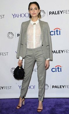 Willa Holland - Floral Marilyn Bag - 32nd Annual PaleyFest LA event #JennyPackham www.jennypackham.com