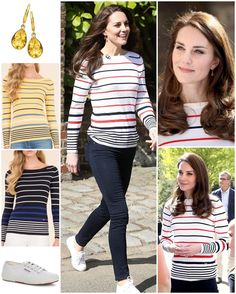 """3,786 Likes, 23 Comments - Catherine Duchess Of Cambridge (@katemidleton) on Instagram: """"Outfit details: Kate's definitely a Breton stripe fan! Today she added yet another striped top to…"""""""