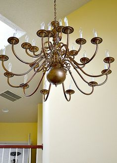 1000 images about painting brass on pinterest brass for Painting metal light fixture bathroom