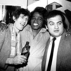 Keith Richards, James Brown and John Belushi at Studio 54 Nightclub