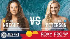 Tyler Wright vs. Lakey Peterson - Roxy Pro Gold Coast 2017 Quarterfinals...