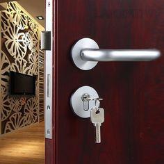 44.59$  Watch now - http://aliljy.worldwells.pw/go.php?t=32691392342 - Factory Direct Supply Space Aluminum Lockbody Interior Door Handle Split Lock Hardware Accessories Room Door-lock