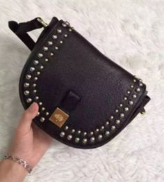 Mulberry Spring Summer 2015 Catwalk Collection Outlet UK-Mulberry Small Tessie Satchel with Rivets Black