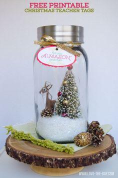 Christmas Teacher Gift Idea and FREE Printable