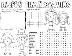THANKSGIVING placemat, thanksgiving activities, thanksgiving printables for kids, free thanksgiving printables, thanksgiving coloring pages