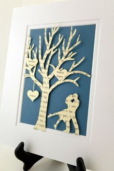 Personalized Anniversary Gift Tree  3D by HandmadeHeadquarters, $25.00