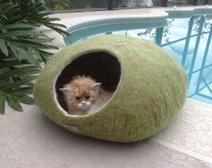 What could be better for your pet than a cat cave made of natural wool!  You love your pet! So take a gift for him! He will love to hide in it. Your cat will give pleasure to rest in it. In winter it is warm and cozy and will be cool in the summer. Cat Cave of natural wool is a perfect gift for your pet!  What could be better for your pet than a cat cave made of natural wool! You love your pet! So take a gift for him! He will love to hide in it. Your cat will give pleasure to rest in it…