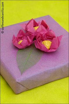 Tissue Paper Gift Wrapping Ideas