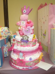 MY Pamper Cake 'baby shower' made for my daughter.